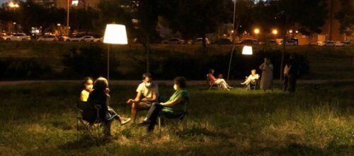 Foto portada: un dels experiments al Parc del Nord. Autor: Gisela Maza / cedida.