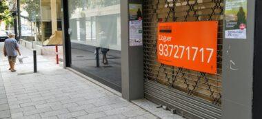 Foto portada: un local buit al carrer de Gràcia. Autor: J.d.A.