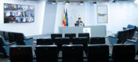 El ministre de Sanitat, Salvador Illa, en roda de premsa telemàtica el 29 de setembre del 2020. Pla general. (Horitzontal)