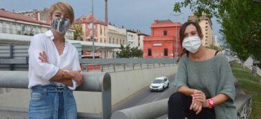 Lourdes Ciuró i Marta Farrés a la Gran Via. Autor: David B.