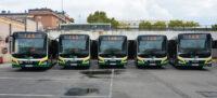 Cinc autobusos hibrids. Autor: David B.