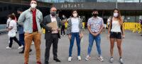 Foto portada: membres de l'Obrera, aquest dijous als Jutjats. Autor: David B.
