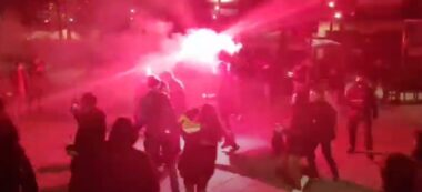 Foto portada: un fragment de vídeo de les nadales contra Sabadell.