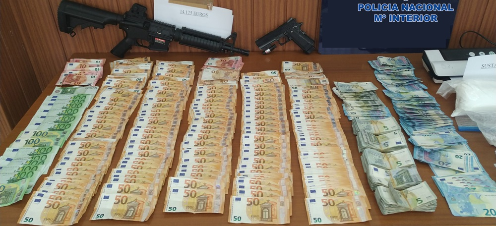 Diners en metàl·lic comissats per la Policia Nacional en una operació de desmantellament d'una organització criminal que distribuïa drogues al Vallès i el Baix Llobregat. Imatge del 22 de juny (Horitzontal)